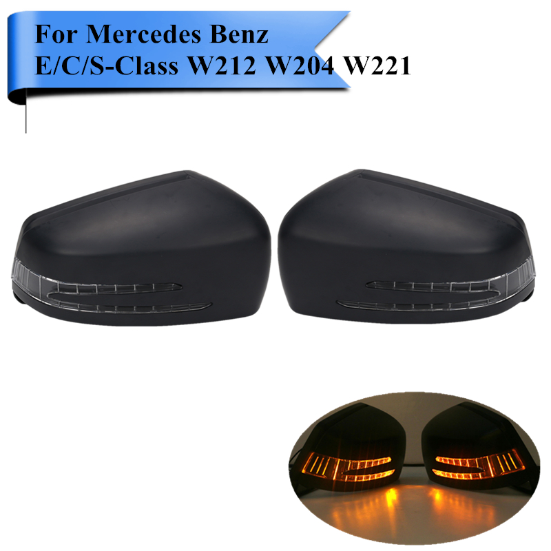 1Pair Car Door Wing Mirrors with Signal Light For Mercedes Benz MB E C S Class W204 W212 W221 C200 C300 S350 S500 E300 #WN184