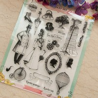 Scrapbook DIY Celibrate In Style A4 ACRYLIC VINTAGE Clear STAMPS FOR PHOTO Timbri SCRAPBOOKING Stamp
