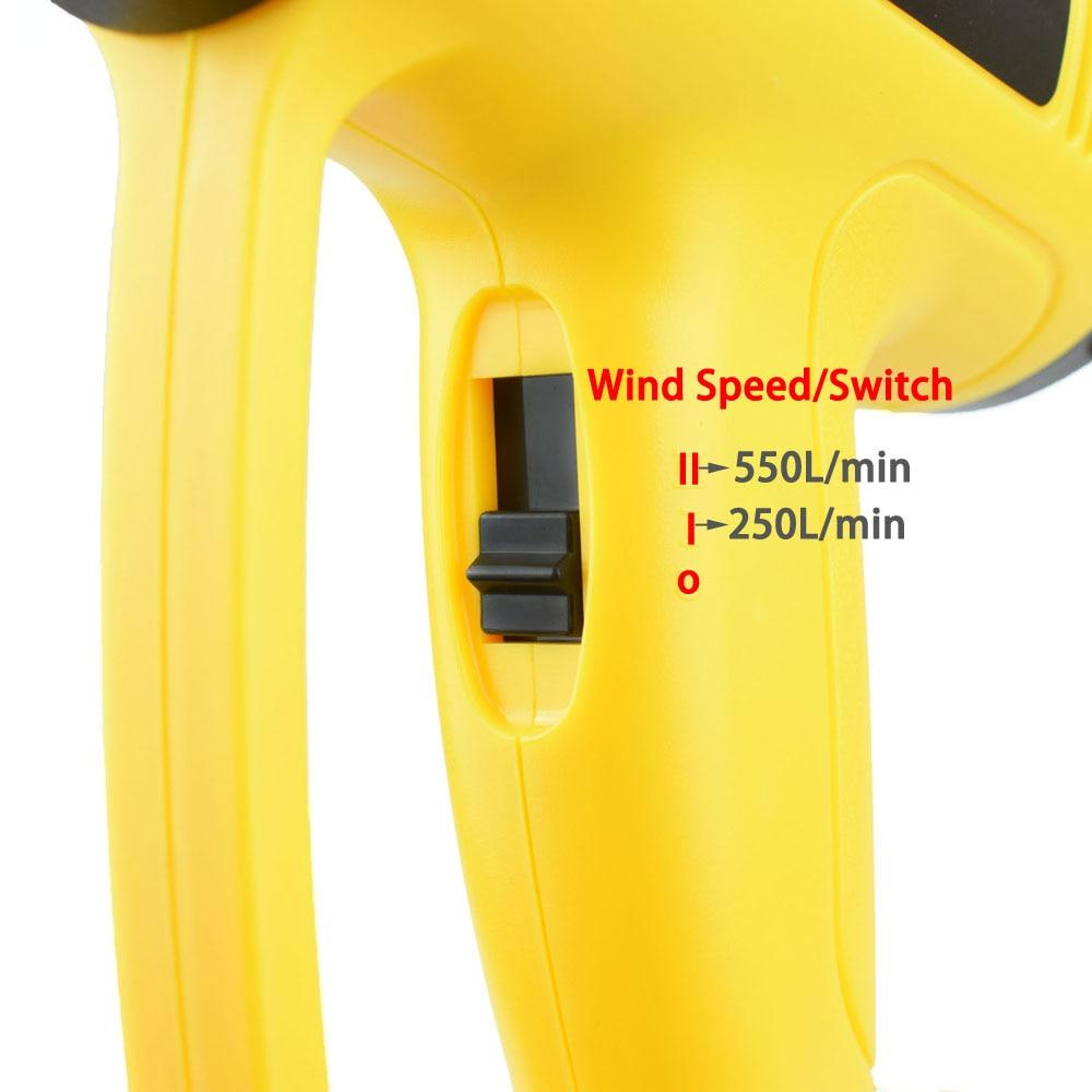 Tools : NEWACALOX EU 220V 2000W LCD Display Hot Air Gun Temperature Adjustable Heat Gun 4PC Nozzles for Heat Shrink Home DIY Embossing