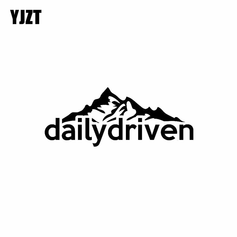 YJZT 13CM*5.2CM Dailydriven Vinyl Decals Persomality Car Sticker Black/Silver C10-01863