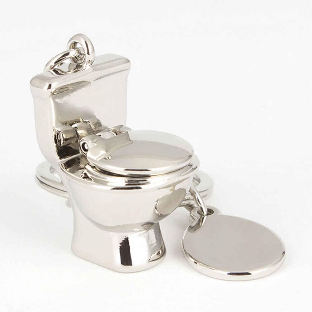 ミニおかしいトイレ車のキーリングチェーンクラシック3Dキーホルダー浴室かわいいクリエイティブギフト小物