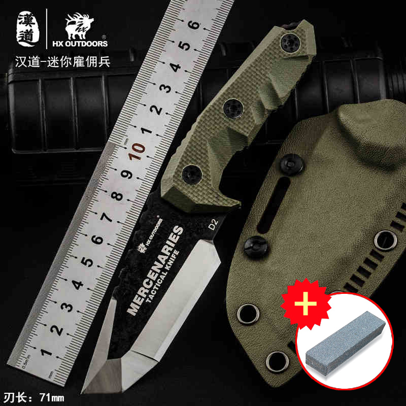HX OUTDOORS Mini mercenaries high hardness tactical straight knife field survival knife, outdoor knife collection knife 2016 hot the classic small straight knife material 440c outdoor survival survival knife gift collection process tactical tools