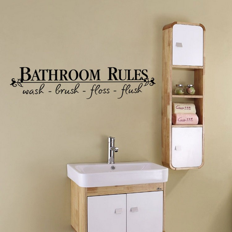 Bathroom Decals compare prices on bathroom wall decals quotes- online shopping/buy