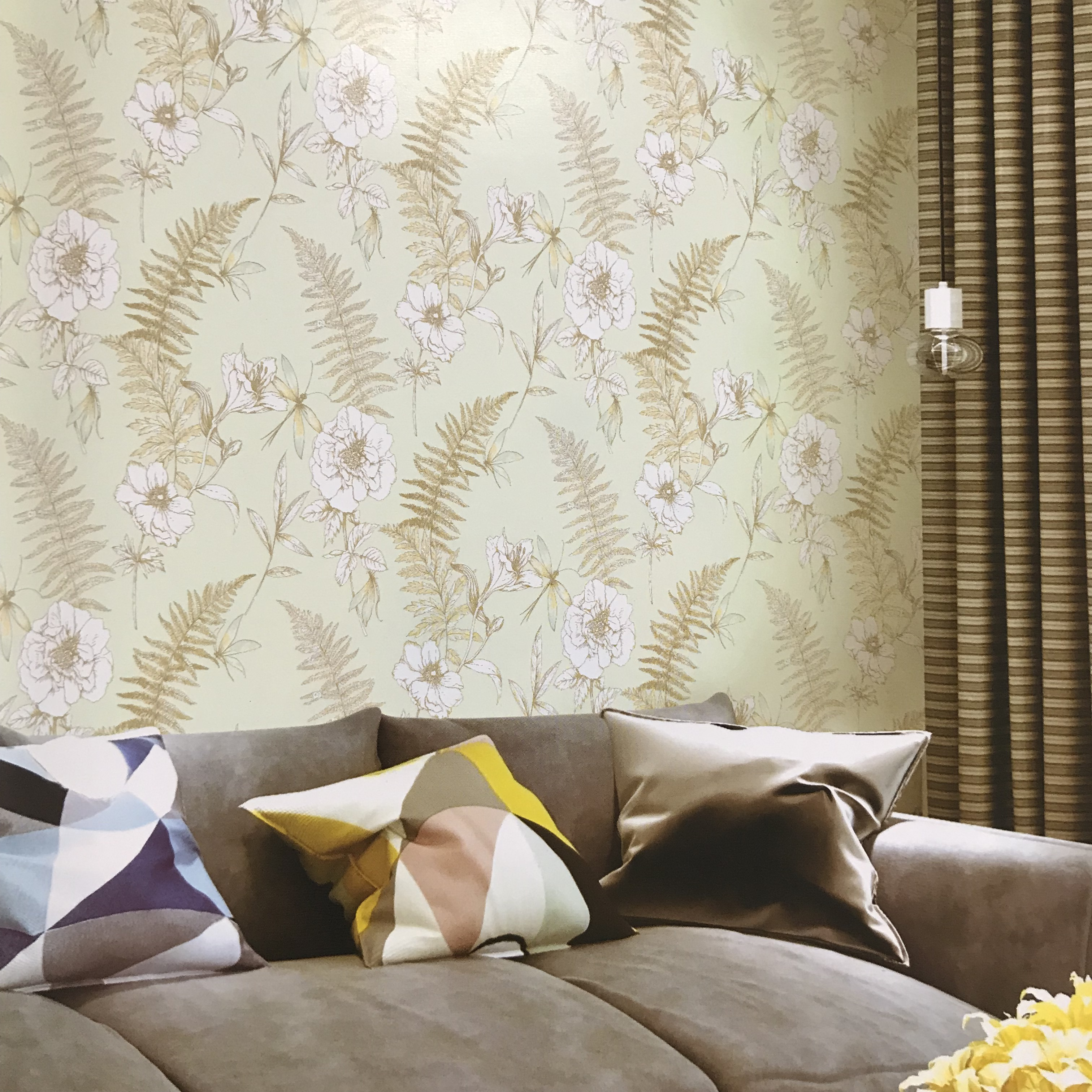 Hot sale printable natural leaf wallpaper designs for home improvement wall coating bedroom living room TV sofa background in Wallpapers from Home Improvement