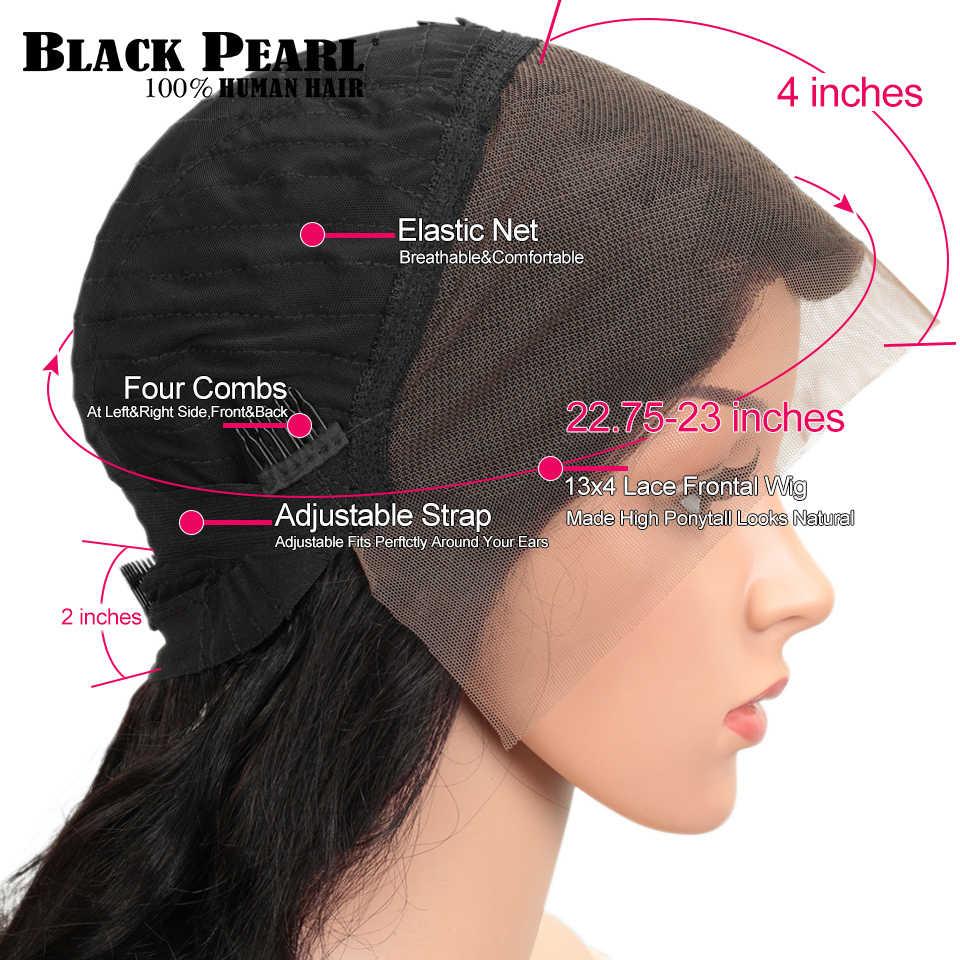 Zwarte Parel 150% Lace Front Menselijk Haar Pruiken 13X4 Pre Geplukt Remy Braziliaanse Kinky Krullend Kant Frontale Pruiken Voor Zwarte vrouwen