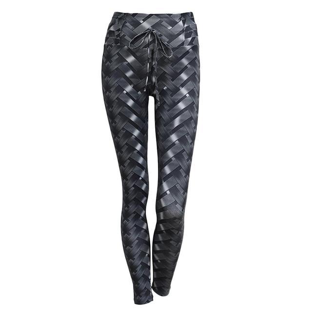 d128a2316dc31 Women's 3D Black Snake Skin Printed Yoga Pants Sports Leggings Tight  Fitness Pants