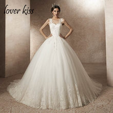 Lover Kiss Vestido De Noiva Real Photo Princess Sleeveless Wedding Dresses  2019 Tulle Beaded Mariage Bride Gowns robe de mariee 6101d7c938ab