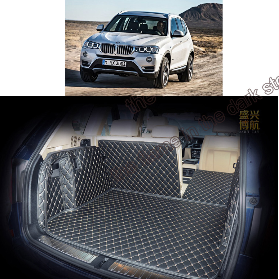 Free shipping pu leather car trunk mat cargo mat for bmw x3 f25 2010 2011 2012