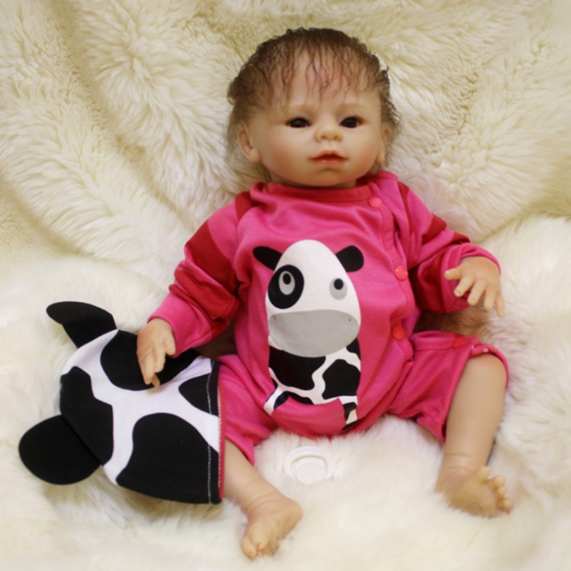 45 CM Silicone Reborn Baby Dolls Kids Playmate Gift For Girls 18 Inch Baby Alive Soft Toys for Children Birthday Gifts 18 inch vinyl reborn doll kids playmate gift for girls 45 cm baby alive soft toys for children lifelike reborn babies dolls