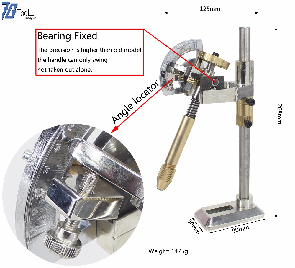 NEW Mode gem Faceting Machine Grinding Faceted manipulator playing angle flat mill polishing stone angles 96 index wheels handle