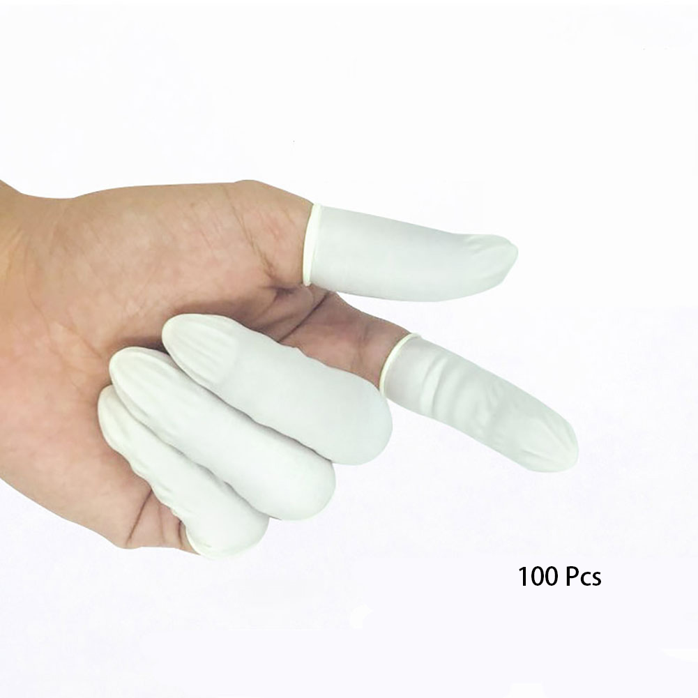 100Pcs/Pack Anti Static Accessories Fingerstall Protective Gloves Makeup Fingertips Painting Finger Cot Disposable Latex Rubber100Pcs/Pack Anti Static Accessories Fingerstall Protective Gloves Makeup Fingertips Painting Finger Cot Disposable Latex Rubber