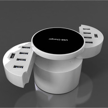 New Universal 10 USB Ports Smart US EU UK Plug Travel AC Power Adapter Socket Wall Charger For Cell Phone