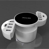 New Universal 10 USB Ports Smart US EU UK Plug Travel AC Power Adapter Socket Wall