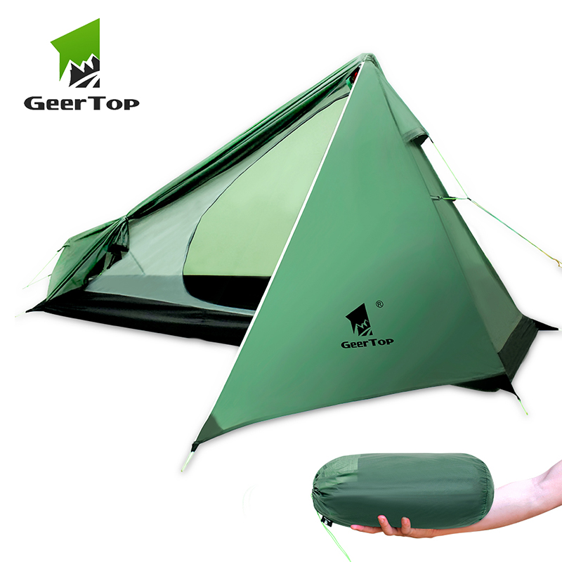GeerTop Ultralight Camping Backpacking Tent One Person 3 Season Wateproof Lightweight Man Tent for Hiking Trekking