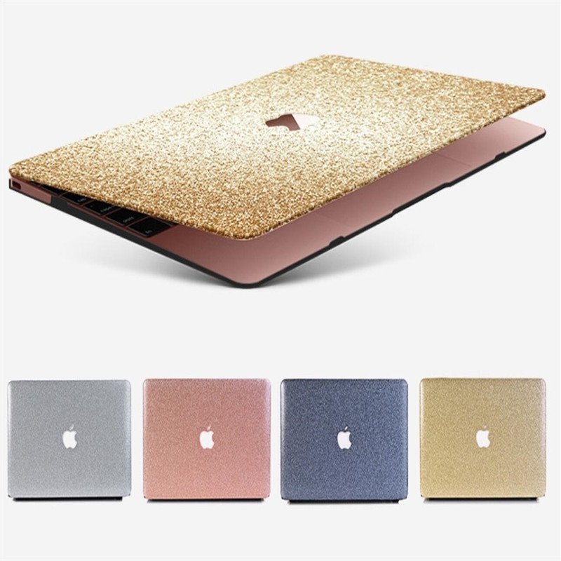 Matte Glitter Bling Case for APPle Macbook Air Pro Retina 11 12 13 15 with Touch Bar 2017 A1706 A1707 A1708 for Macbook 11 Case for macbook pro 13 15 2017 2016 case with non touch bar a1706 a1707 a1708 laptop print case cover air pro retina 13 3 15 4