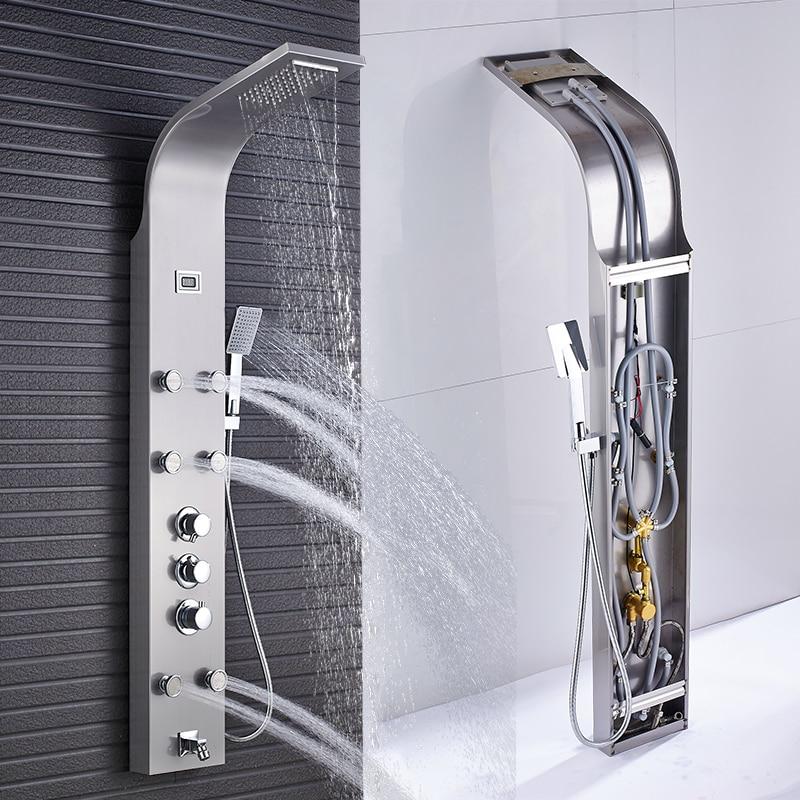 towel shower column