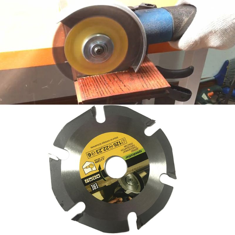 New 125mm 6T Circular Saw Blade Multitool Grinder Saw Disc Carbide Wood Cutting Disc Carving Blades For Angle Grinders Qiang