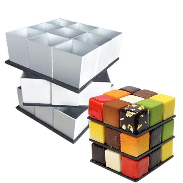 rubiks cube cake mold set dessert mold fondant cake decorating