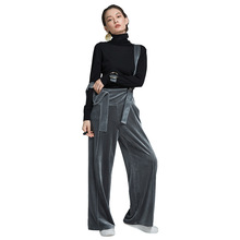 2019 autumn and winter womens new corduroy bib pants Euramerican solid color overalls trousers women for 6611