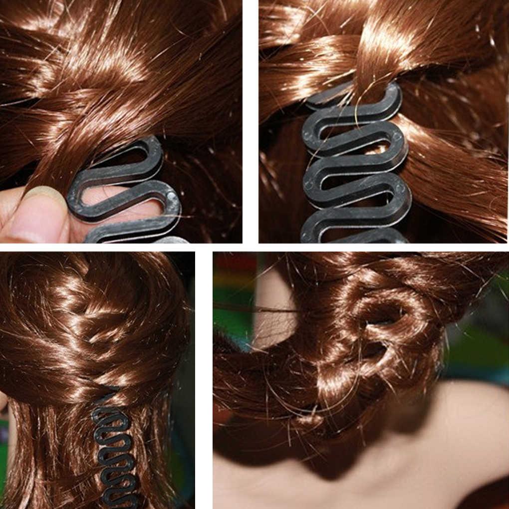 1 шт. Новый Для женщин волос плетение Инструмент Ткань плетельной девушки для укладки волос Maker DIY прически Аксессуары