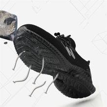 Niezniszczalne obuwie ochronne męskie plastikowe stalowe Toe obuwie robocze oddychające letnie buty robocze męskie buty ochronne chronią obuwie