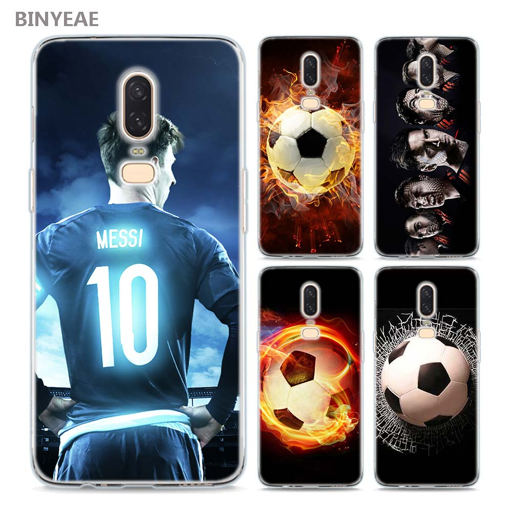 BINYEAE Fire Football Soccer Style Silicone TPU Ultra Thin Clear Soft Phone Case for Oneplus 6 5T Cover Coque