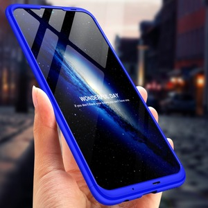 Image 3 - Voor Huawei P Smart 2019 360 Graden Volledige Bescherming Hard Plastic Gevallen Voor Huawei P Smart 2019 POT LX3 Case Gehard glas
