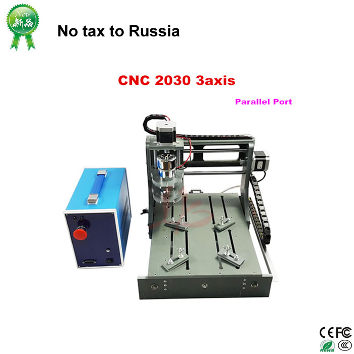 Free tax to russia& Ukraine, DIY  LY CNC 2030 3 axis Mini wood milling router DC spindle 300W with Parallel port mini cnc router machine 2030 cnc milling machine with 4axis for pcb wood parallel port