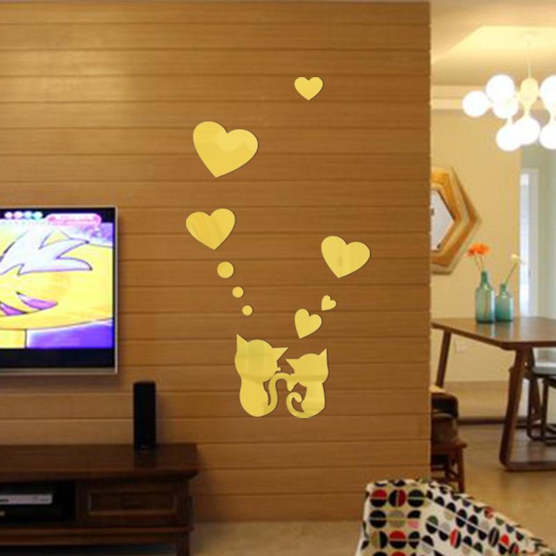 colores etiqueta de la pared decoracin del hogar d lindo amantes de los gatos forma