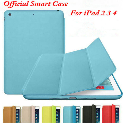 2016 Newest Brand Top Quality Cheap Official Ultra-thin Flip Case For iPad 2 3 4 1:1 Original Smart Stand Case Cover ophir 0 2