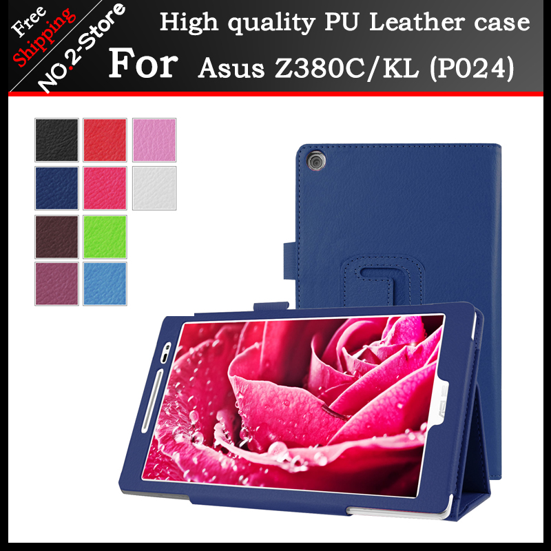 For Asus Zenpad8 Z380 / Z380CL / Z380C Tablet Cover 8.0 inch Fashion Stand Flip Litchi case For Asus Z380 (P024) +3 Gift