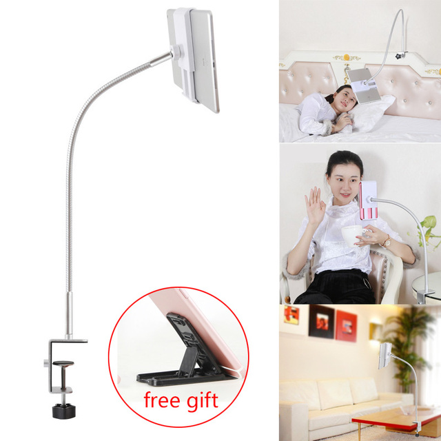 Cell Phone Holder 360 Flexible Gooseneck Mount Bed Desk Lazy Stand for 3.5 10.6 Phones iPhone 7 8 Plus Huawei Mate Se 20 Xiaomi