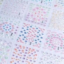 NTL17(24pcs/set) Multi-Flower Nail Art Transfer Foils Sticker Adhesive Nail StickerWraps Nail Tips Decorations Water Slide Decal недорого