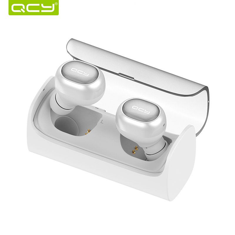 QCY Q29 Pro Bluetooth Earphones TWS Wireless Headset Noise Cancelling Sports Music Earbuds with Mic and Portable Charging Box remax t11c bluetooth earphones 2in1 mini earbuds with dual usb car charger wireless car headset cvc noise cancelling for phone