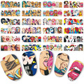 12 sets nail sticker Pop water transfer nails decals beauty decor nail slider cool girl lips manicure art BN385-396