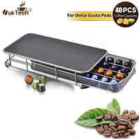 High quanlity Coffee Pods Holder Storage Drawer Coffee Capsules Organizer for 40pcs Nespresso Capsules