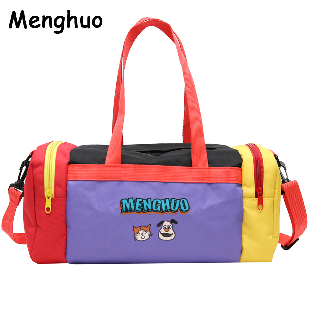 Menghuo Cartoon Travel Bag Women Duffle Bag Nylon Waterproof Colorful  Packing New Travel Handbag Weekend Luggage Travel Tote Sac 74b6be7014530