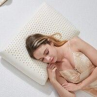60x40cm large Natural Latex Pillow Sleeping Bedding Cervical Massage Bamboo Pillow Health Neck Head Vertebrae Care Memory pillow