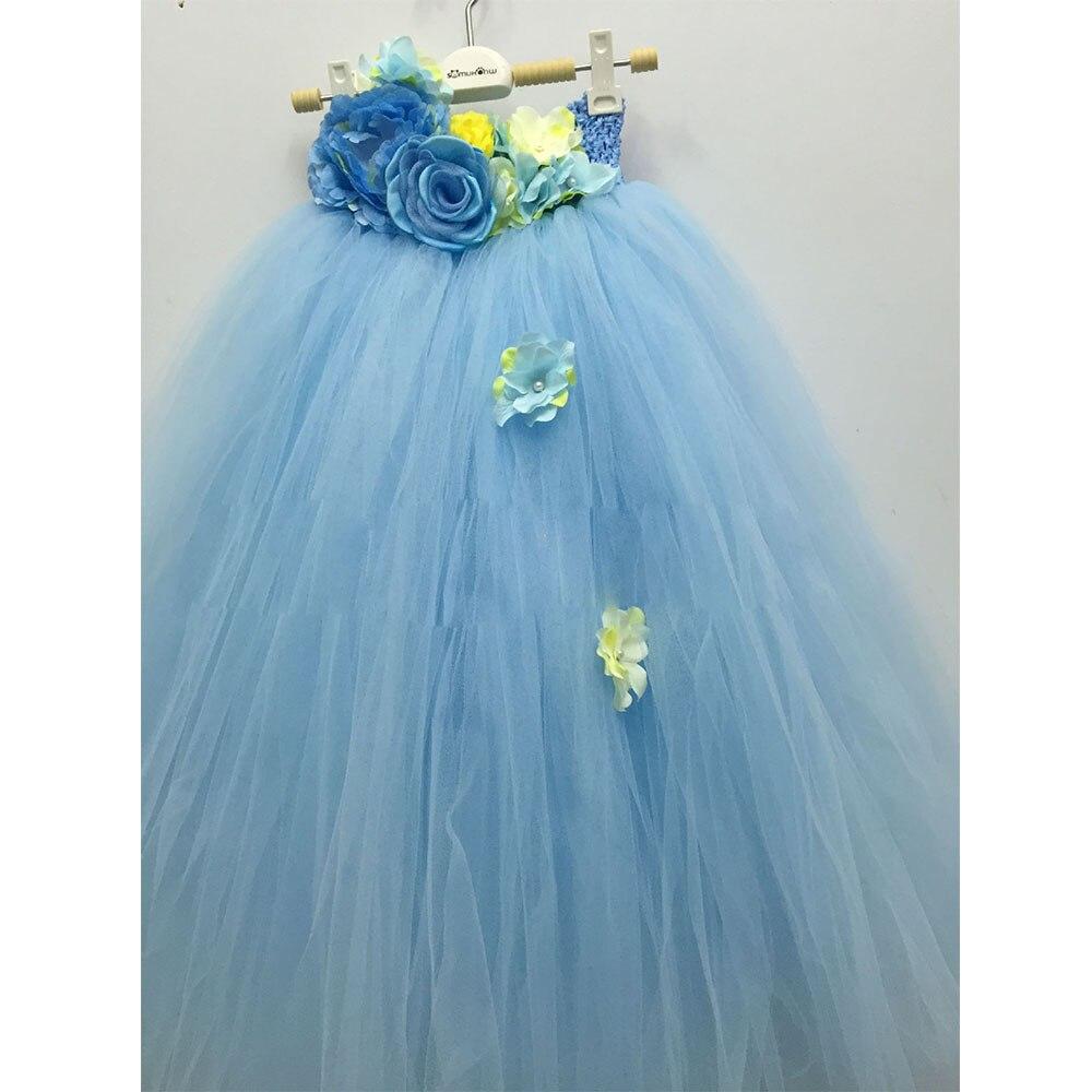 Princesse Fleur Fée tutu pour fille Robe Cheville-Longueur Pour la Fête D'anniversaire Boutique Cosplay Halloween Bébé Filles Balle robes de chambre - 6
