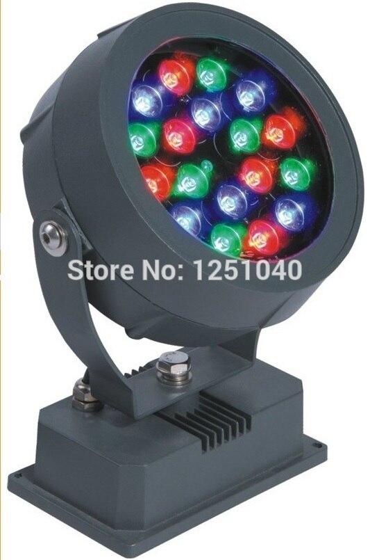 18W LED FloodLights DC24V DMX512 Three-channel RGB IP65 Waterproof Outdoor lighting LED Colorful Landscape lighting changes цена