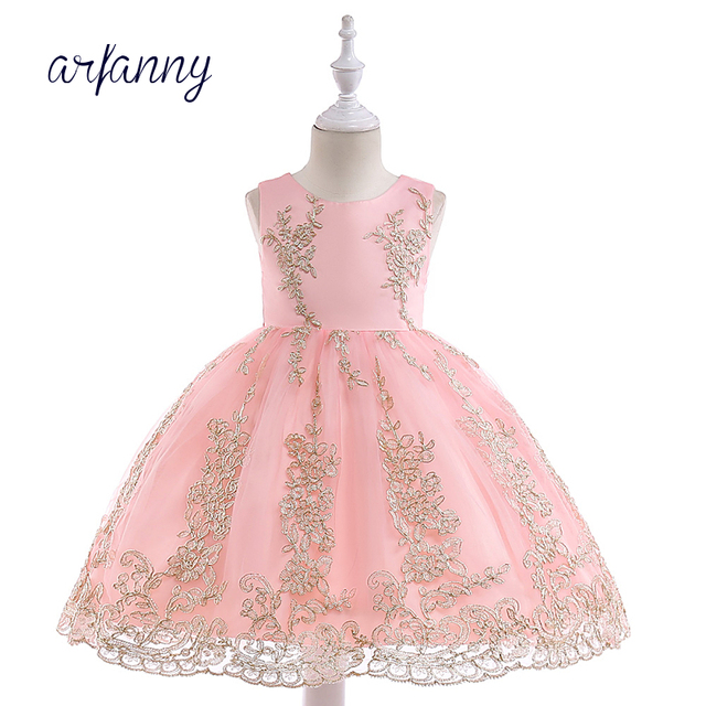f2bee54e3ed Girls Bridesmaid Flowers Wedding Birthday Dress Girl Evening Birthday Party  Dresses 3-10Y Kids Ball Gown Halloween Clothes