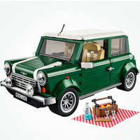 Creator MINI Cooper MK VII Classic British Racing Green Styling Model Dream Car 1077pcs Bricks Collector Series Creator Expert