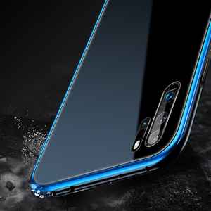 Image 4 - สำหรับ Huawei P30 กรณี P30 Pro กรอบโลหะ + กระจกนิรภัยกรณีที่มีสีสันลื่น P 30 Pro mate 20 pro เปลือกโลหะ