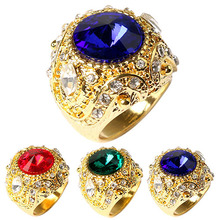 2015 Fahion Men's Vintage Luxury Big Resin Crown  Alloy Ring Jewelry Size 7-10  73YF