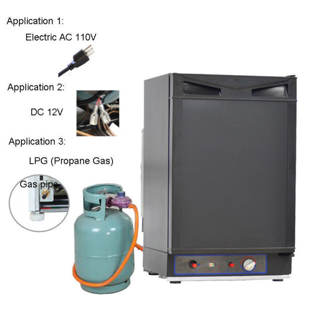 US $399 99 |SMAD 1 4 cu ft LP 3 Way Propane LP Absorption Refrigerator  Trailer Camping Fridge Vacation Home RV Freezer-in Freezers from Home