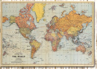 Old World Map Hd.The Old Retro English Label World Map High Quality Covered Firm