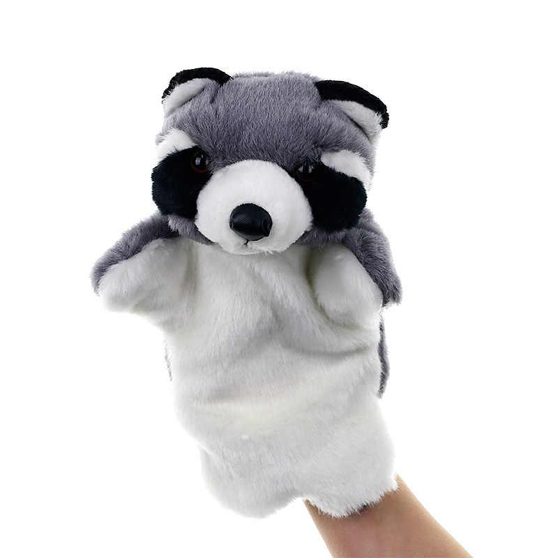 Hewan Boneka Tangan Beruang Coklat Fox Crow Panda Sea Lion Tiger Laut Burung Hantu Katak Sapi Mainan untuk Anak Boneka Tangan hadiah Ulang Tahun