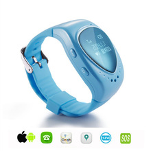 LEKEMI Mini GPS tracker watch phone for kids child children gps bracelet google map, sos button, free apps gsm gps locator