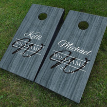 Custom Wedding Cornhole Board Decals Set Of Two Wedding Monogram Sign Game Sticker DIY Design Decor Removable Murals WE26 brybelly holdings sout 103 touchdown toss cornhole set