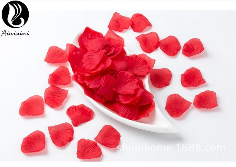 100Pcs/Pack 5*5cm Artificial Flowers Red Rose Flower Party Decoration Carpet Weddings Petals Petalos De Rosa De Boda BV268